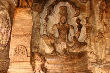 Statue Of Vishnu - Badami Cave Temples