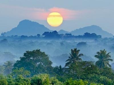 Sunrise Over Sri Lankan Landscape