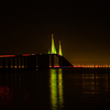 Sunshine Skyway Bridge At Night View