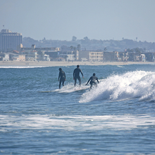Surfing In Pacific Beach