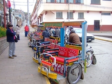 Taxis In Puno City Peru