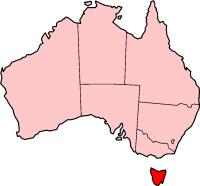 Tasmania In  Australia Map