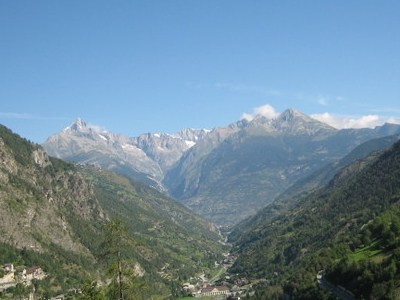 Visp Valley At Stalden