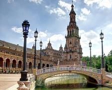 View Bridge Over Canal - Plaza De Espana At Seville - Andalusia