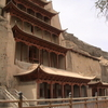 View Of The Mogao Grottoes From Outside