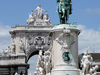 View Of The Statue And The Arch At Praça Do Comércio