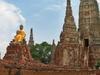 Statues At Wat Chaiwatthanaram