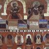 Celestial Figures Above Serial Buddhas