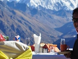 Mt. Everest Breakfast on Top of the World by Helicopter Photos
